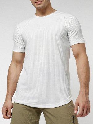 Мужская футболка однотонная белого цвета 221487Bl