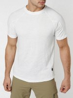 Однотонная футболка белого цвета 221028Bl
