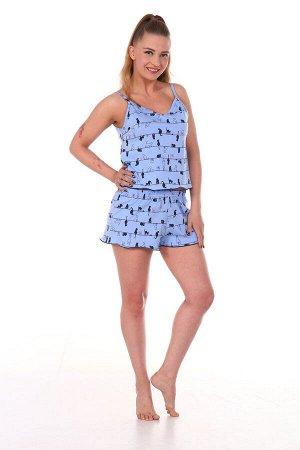 Пижама женская, голубой