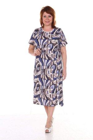 Платье женское, синий