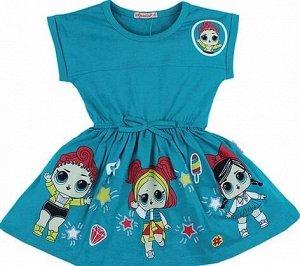 Платье для девочки BK1171P изумрудный