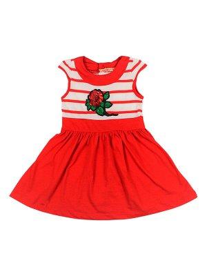 Платье для девочки BK1025P красный