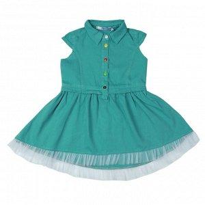 Платье для девочки OP887 малахитовый