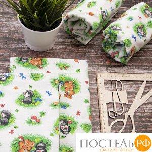 Набор детских пеленок фланель 4 шт 75/120 см 136-1П