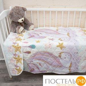 Покрывало детское стеганое 100% хлопок 13247/1 Unicorns Модель 1 110/150