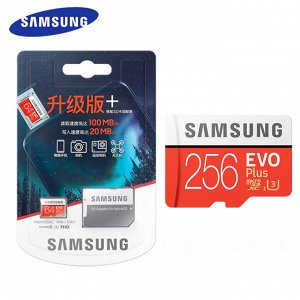 Карта памяти Samsung EVO Plus microSDXC 4K / 256 гб