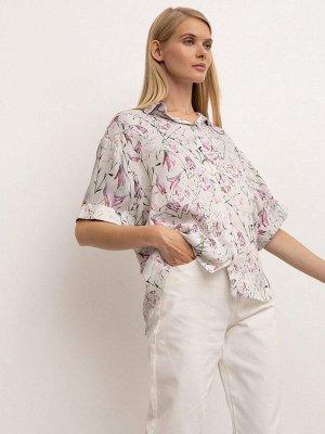 EMKA Рубашка с цветочным принтом