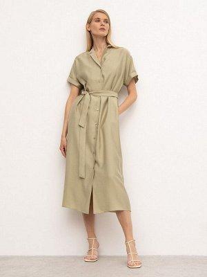 Платье-Рубашка с поясом PL986/ricco