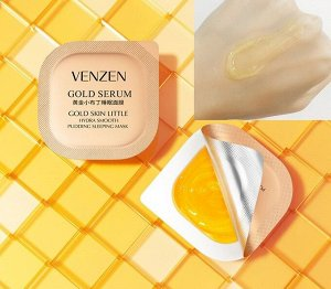 Ночная маска Venzen Gold Serum Skin Sleeping mask, 1*7,5 гр