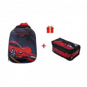 Рюкзак каркасный, Hatber, Ergonomic light ,38 х 29 х 15, EVA-материал, с термосумкой, Super Sports Car