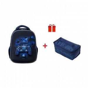 Рюкзак каркасный, Hatber, Ergonomic light ,38 х 29 х 15, EVA-материал, с термосумкой, Start game