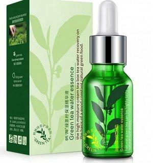 Увлажняющая, антиоксидантная сыворотка с экстрактом зеленого чая Rorec Green tea water essence 15 мл.