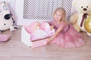 Диван для куклы (с постельным бельем)
