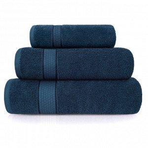 Набор из 3 полотенец Eleganta (Marakesh) (30х50 см + 50х80 см + 70х130 см) махра 390 г/м2, 19-4038 глубокий синий