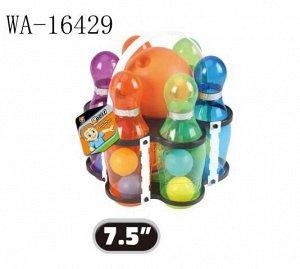 Игровой набор Junfa Боулинг с шаром и 6 прозрачными кеглями в держателе52