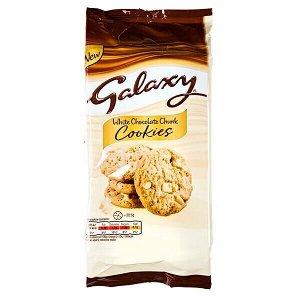 Печенье Galaxy White Chocolate Chunk 180 г