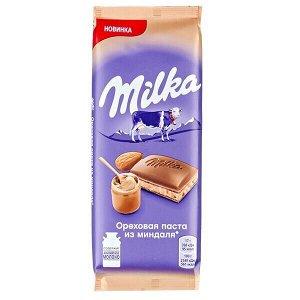 Шоколад Милка Ореховая паста из миндаля 85 г