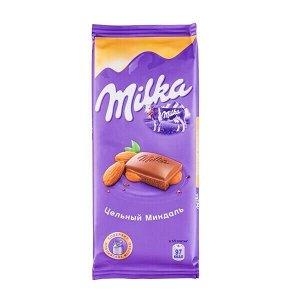 Шоколад Милка Цельный Миндаль 85 г
