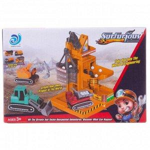 Игровой набор Junfa На стройке с подъемными механизмами и машинкой215