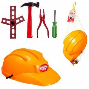 Игровой набор ABtoys Помогаю Папе Строительная каска и набор инструментов (молоток и другие)958