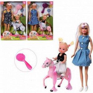 Кукла Defa Lucy Прогулка с дочкой на пони, 2 куклы в комплекте, 2 вида в коллекции260