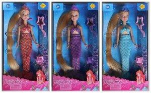 Кукла Defa Lucy Русалочка в наборе с зеркалом и расческой, 24см, 3 вида173