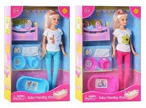 Игровой набор Кукла Defa Lucy Мама с двумя новорожденными малышами 2 вида в коллекции132