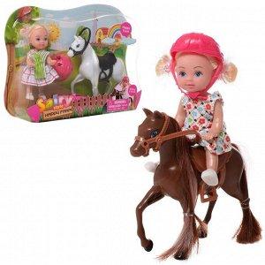 Игровой набор Кукла Defa Sairy Малышка с лошадкой 11 см 2 вида в коллекции186