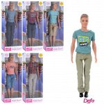 Кукла Defa Kevin Юноша в футболке, 6 видов в коллекции131