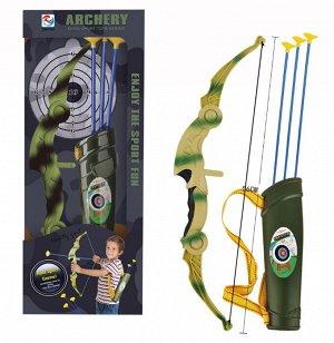 Игровой набор Junfa Лук камуфляжный складной со стрелами и колчаном379