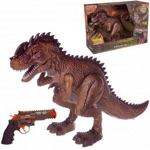 Игровой набор Junfa Охота на динозавра (Тираннозавр и пистолет), на ИК управлении, на батарейках134