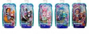 Кукла Mattel Enchantimals с любимой зверюшкой 5 видов Базовая1016