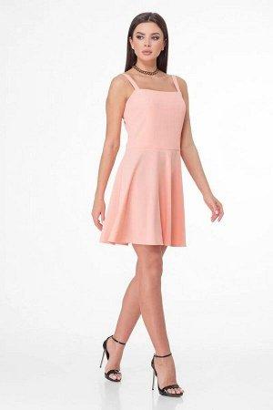 Сарафан полиэстер 95%, эластан 5%Платье прямого силуэта с центральной застежкой на кнопки. Линия плеча спущена. По переду обработаны накладные карманы. Рукав короткий втачной, с цельнокроеными манжета