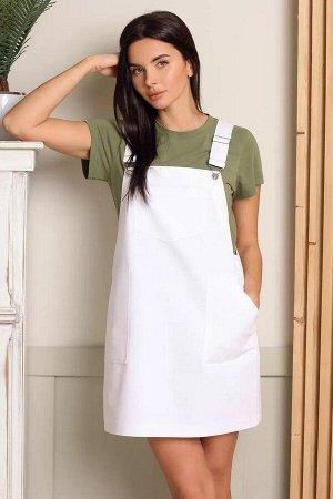Сарафан 100% хлопокЛетний сарафан, выполнен  из тонкой органзы. Платье полностью  на хлопковой подкладке. Изделие отрезное по линии талии. Верх с отрезными чашечками и вытачками. Низ платья собран на