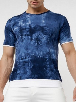 Мужская футболка варенка темно-синего цвета 221004TS