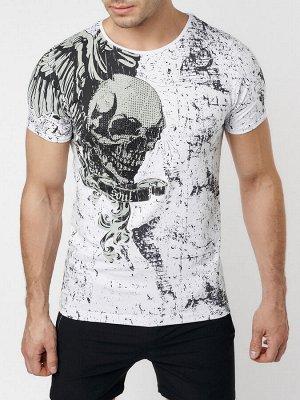 Подростковая футболка белого цвета 220035Bl