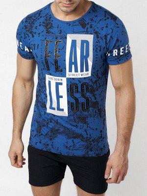 Подростковая футболка синего цвета 220078S