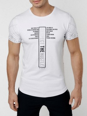 Подростковая футболка белого цвета 220072Bl