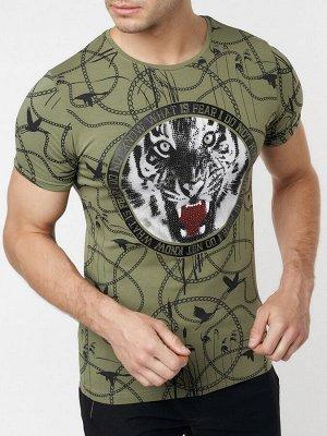 Подростковая футболка хаки цвета 220081Kh