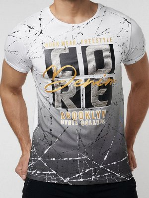 Подростковая футболка белого цвета 220145Bl
