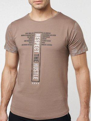 Подростковая футболка коричневого цвета 220072K