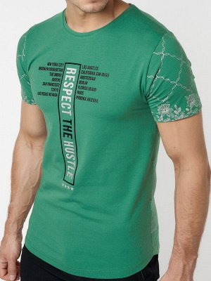 Подростковая футболка зеленого цвета 220072Z