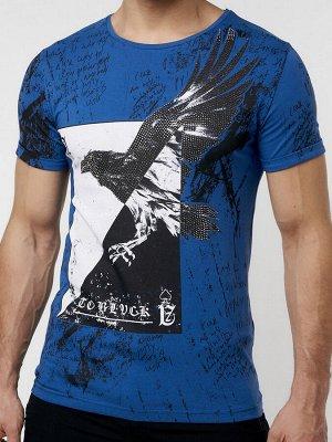 Подростковая футболка синего цвета 220036S