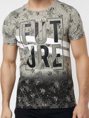 Подростковая футболка бежевого цвета 220147B