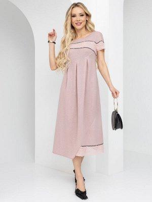 Платье Стильный ланч (пудровая роза)