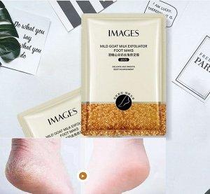 Маска-носочки IMAGES Beauty Mild Goat Milk Exfoliator Foot Mask педикюрные отшелушивающие грубую кожу стоп 35гр