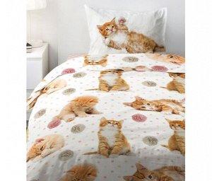 КПБ 1.5 поплин Fun&Cute (70х70) рис. 16084-1/16085-1/8672-6 Cute kittens