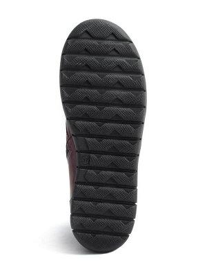 Ботинки демисезонные женские, бордовая кожа