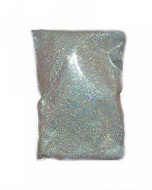 Блестки белые радужные в пакете, 5 гр.