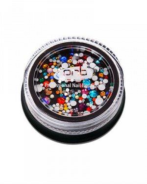 Стразы Pnb разноцветные микс стекло, 200 шт.